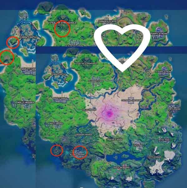 Fortnite: Grimbles'ın Aşk İksirlerini Nerede Bulabiliriz?